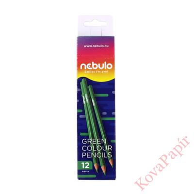 Színes ceruza NEBULO háromszögletű zöld