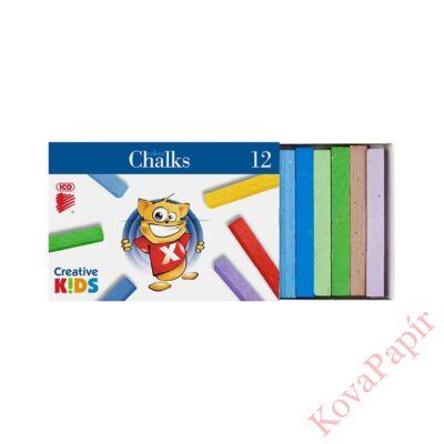 Táblakréta ICO Creative Kids színes 12 db-os