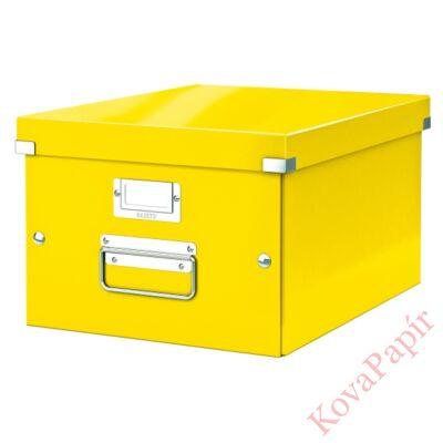 Tároló doboz LEITZ Click&Store A/4 sárga