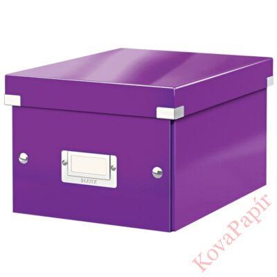 Tároló doboz LEITZ Click&Store A/5 lila