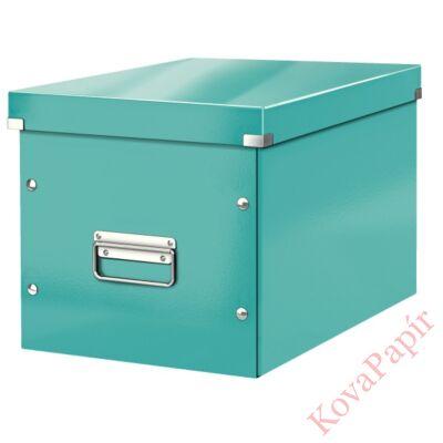 Tároló doboz LEITZ Click&Store L méret kocka jégkék