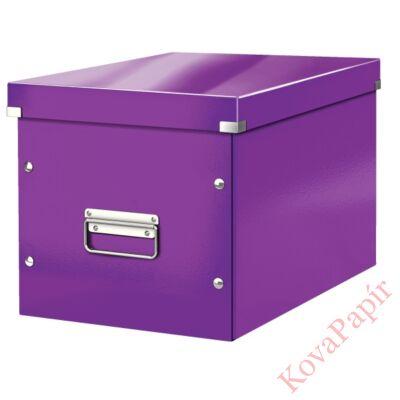 Tároló doboz LEITZ Click&Store L méret kocka lila
