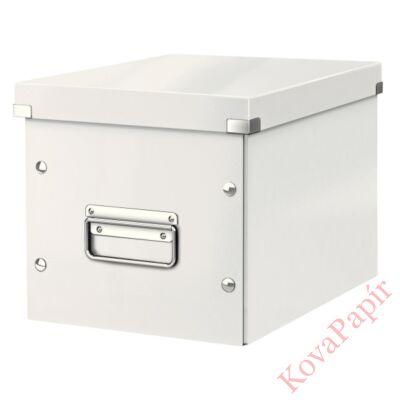 Tároló doboz LEITZ Click&Store M méret kocka fehér