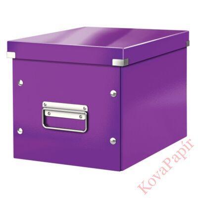 Tároló doboz LEITZ Click&Store M méret kocka lila