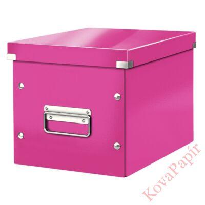 Tároló doboz LEITZ Click&Store M méret kocka rózsaszín