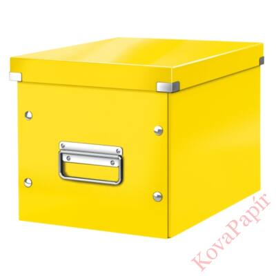 Tároló doboz LEITZ Click&Store M méret kocka sárga