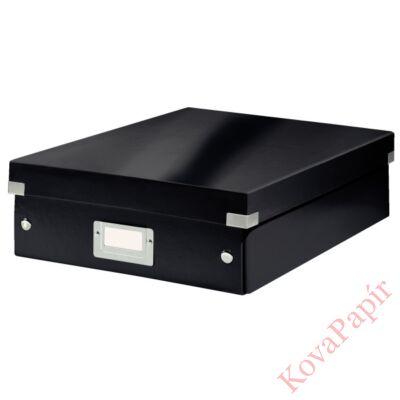 Tároló doboz LEITZ Click&Store rendszerező M méret fekete