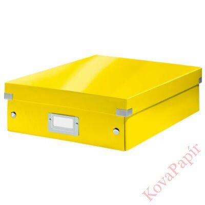 Tároló doboz LEITZ Click&Store rendszerező M méret sárga