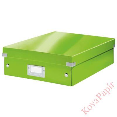 Tároló doboz LEITZ Click&Store rendszerező M méret zöld
