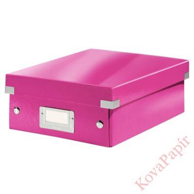 Tároló doboz LEITZ Click&Store rendszerező S méret rózsaszín