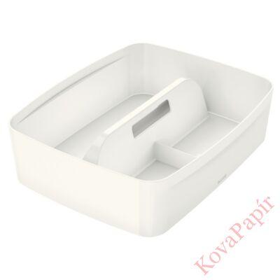 Tároló doboz LEITZ Wow MyBox rendszerező fogantyúval műanyag kicsi fehér