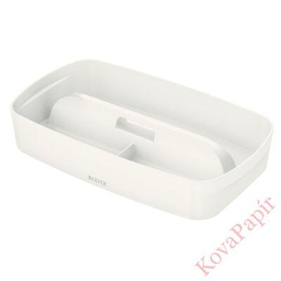 Tároló doboz LEITZ Wow MyBox rendszerező fogantyúval műanyag nagy fehér