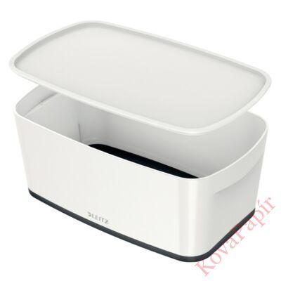 Tároló doboz LEITZ Wow Mybox fedeles műanyag kicsi fehér/fekete