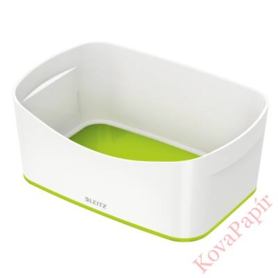 Tároló doboz LEITZ Wow Mybox műanyag fehér/zöld