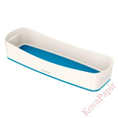 Tároló doboz LEITZ Wow Mybox műanyag keskeny fehér/kék