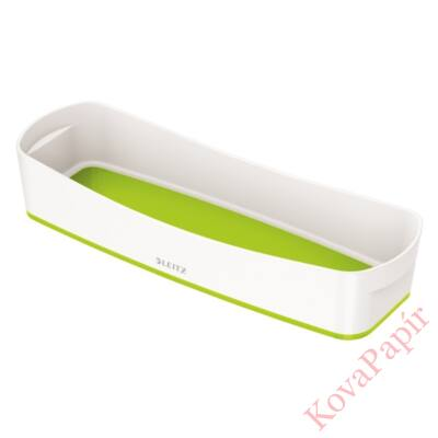 Tároló doboz LEITZ Wow Mybox műanyag keskeny fehér/zöld