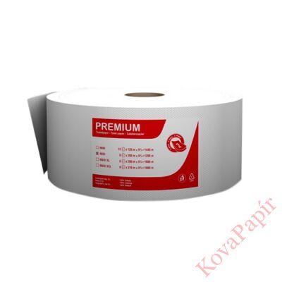 Toalettpapír FORTUNA Premium Jumbo midi tekercses 2 rétegű 23cm 200m hófehér 6/csom