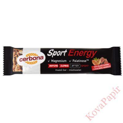 Müzliszelet CERBONA Energy csokoládés-mandulás 35g