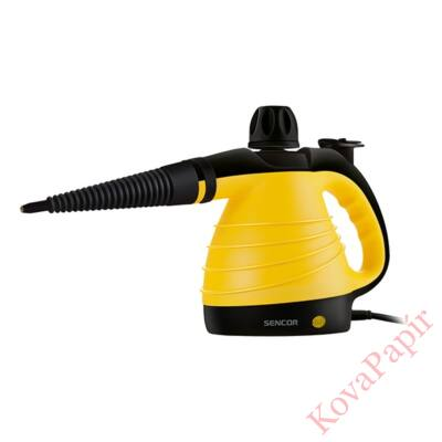 Gőztisztító SENCOR SSC 3001YL 1000W 3 bar nyomás 350 ml tartály sárga