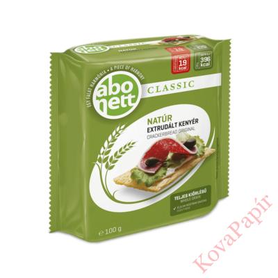 Extrudált kenyér ABONETT Classic teljes kiörlésű natúr 100g