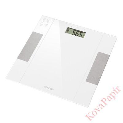 Személymérleg fitnesz SENCOR SBS 5051WH LCD 150 kg üveg fehér