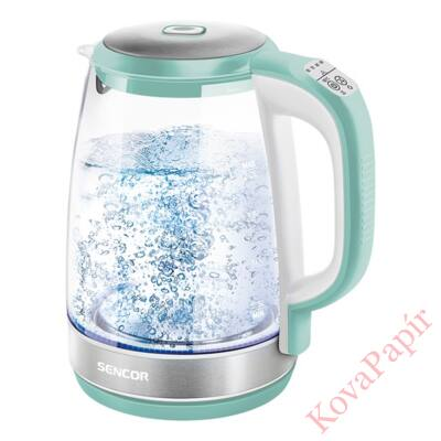 Üveg vízforraló SENCOR SWK 2191GR 2200W 2 liter zöld