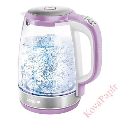 Üveg vízforraló SENCOR SWK 2195VT 2200W 2 liter lila