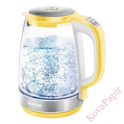 Üveg vízforraló SENCOR SWK 2196YL 2200W 2 liter sárga
