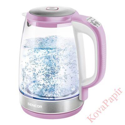 Üveg vízforraló SENCOR SWK 2198RS 2200W 2 liter rózsaszín