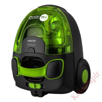 Porzsák nélküli porszívó SENCOR SVC 510GR 890W ECO szűrős zöld
