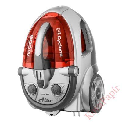 Porzsák nélküli porszívó SENCOR SVC 730RD 800W ECO szűrős piros