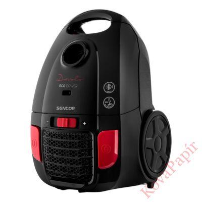Porzsákos porszívó SENCOR SVC 6001BK 700W ECO Power szűrős fekete