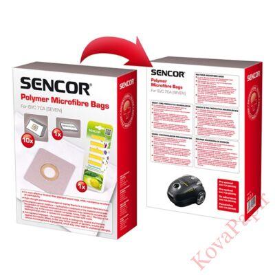 Papírzsák porszívóba SENCOR SVC 7CA + 1 mikroszűrő + 5 illatosító