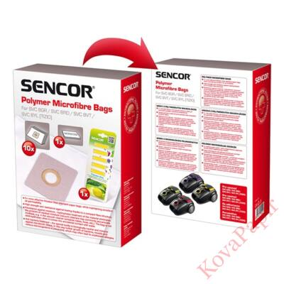 Papírzsák porszívóba SENCOR SVC 8 + 1 mikroszűrő + 5 illatosító