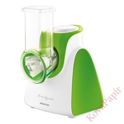 Elektromos szeletelő SENCOR SSG 3501GR cserélhető fejjel zöld