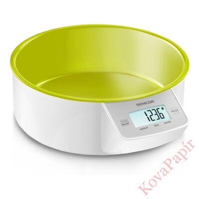 Tálas konyhai mérleg SENCOR SKS 4004GR 5 kg zöld