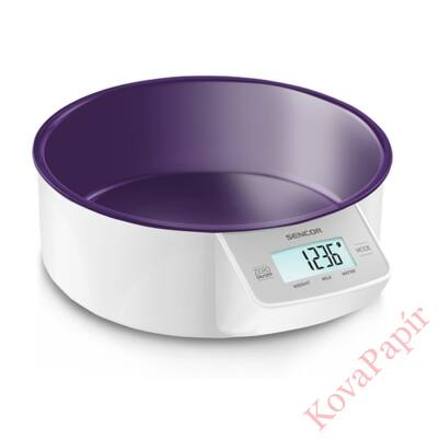 Tálas konyhai mérleg SENCOR SKS 4004VT 5 kg lila