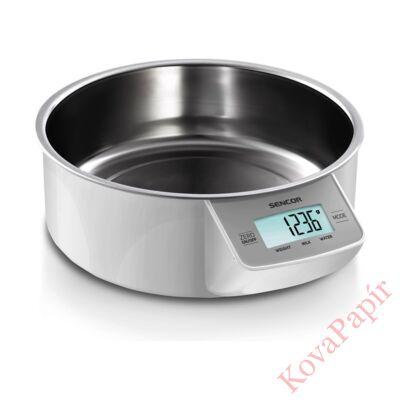 Tálas konyhai mérleg SENCOR SKS 4030WH 5 kg acél