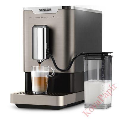Automata kávéfőző SENCOR SES 9020NP 1 személyes tejhabosítóval szürke