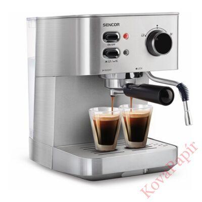 Presszó kávéfőző SENCOR SES 4010SS 2 személyes acél