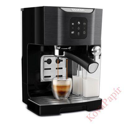 Presszó kávéfőző SENCOR SES 4040BK 2 személyes tejhabosítóval fekete