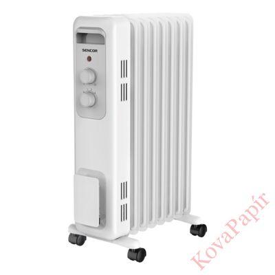 Elektromos olajradiátor SENCOR SOH 3207WH 1500W 3 fokozatú fehér