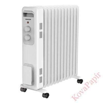 Elektromos olajradiátor SENCOR SOH 3211WH 2300W 3 fokozatú fehér