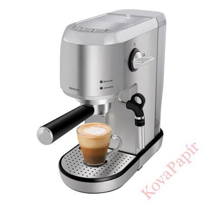 Presszó kávéfőző SENCOR SES 4900SS 2 személyes gőzfúvókával acél