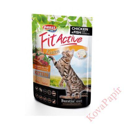 Állateledel száraz PANZI FitActive Kitten kölyök, vemhes és szoptatós macskák számára 300 g