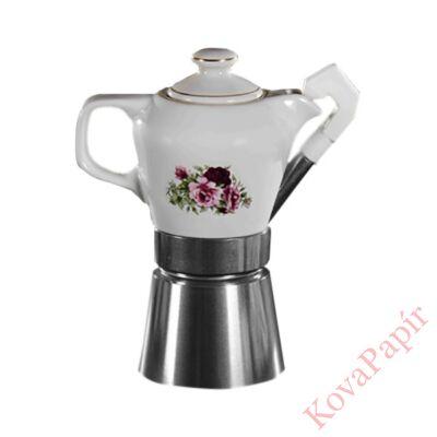 Kotyogós kávéfőző FATIMA 2-4 személyes virág mintás