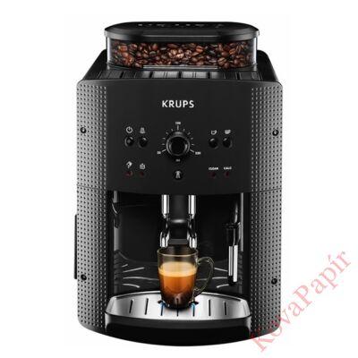 Automata kávéfőző KRUPS EA8108 Roma 2 személyes tejhabosítóval fekete
