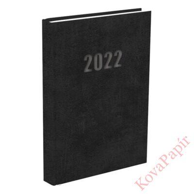 Határidőnapló A/5 napi fekete 2022.