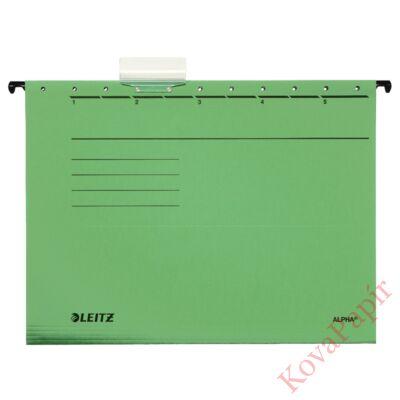 Függőmappa LEITZ Alpha Standard A/4 karton zöld 25 db/doboz