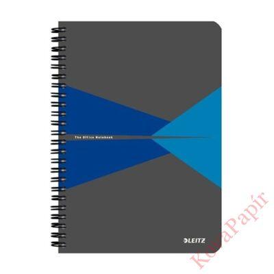 Spirálfüzet LEITZ Office A/5 karton borítóval 90 lapos vonalas kék